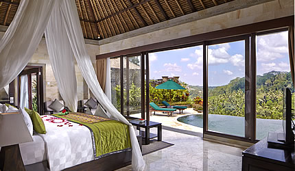 royal pool villa bedroom